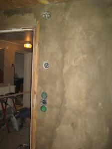 Bredspackla betongvägg